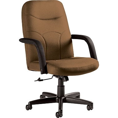 Staples Fuller Custom Leather Manager's Chair, Chamois
