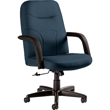 Staples Fuller Custom Leather Manager's Chair, Surf