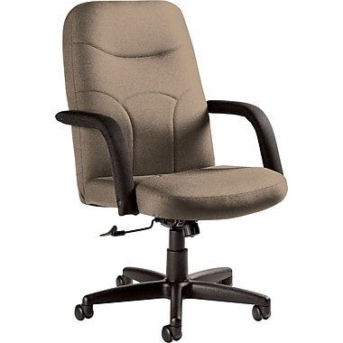 Staples Fuller Custom Leather Manager's Chair, Latte