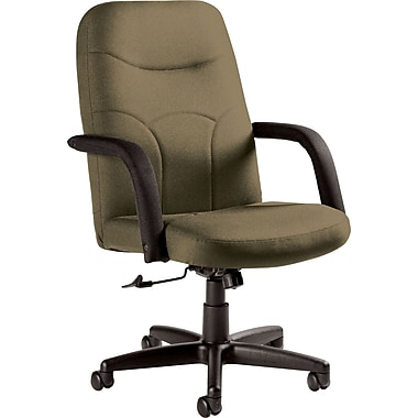 Staples Fuller Custom Leather Manager's Chair, Melon