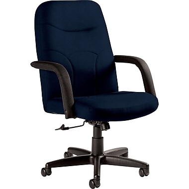 Staples Fuller Custom Leather Manager's Chair, Delta