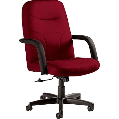 Staples Fuller Custom Leather Manager's Chair, Rouge