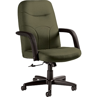 Staples Fuller Custom Leather Manager's Chair, Jade