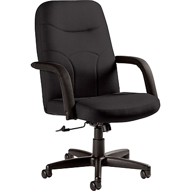 Staples Fuller Custom Leather Manager's Chair, Graphite