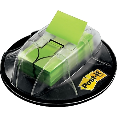Post-it® 1in. Green Arrow Flags with Desk Grip Dispenser, 200 Flags/Pack