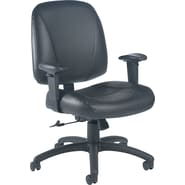 Global Italia Leather Task Chair, Black