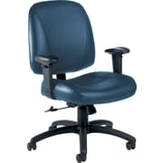 Global® Italia Custom Leather Office Chair, Surf