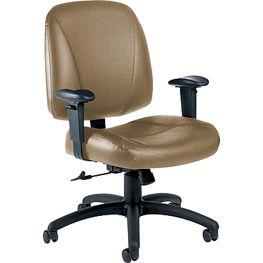 Global Italia Custom Leather Office Chair, Latte
