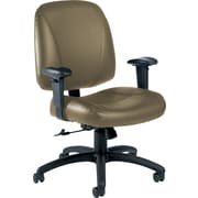 Global® Italia Custom Leather Office Chair, Melon