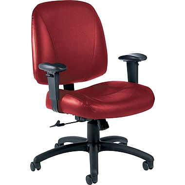 Global Italia Custom Leather Office Chair, Rouge
