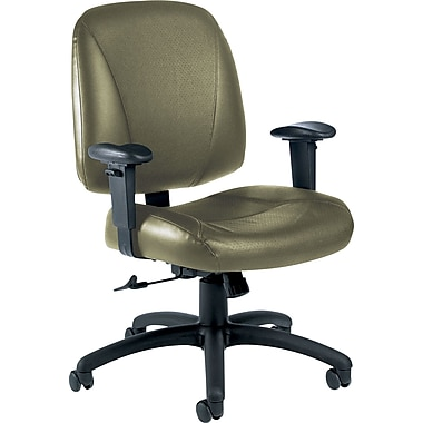 Global Italia Custom Leather Office Chair, Jade