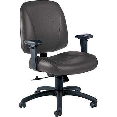 Global Italia Custom Leather Office Chair, Graphite