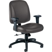 Global® Italia Custom Leather Office Chair, Graphite