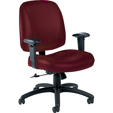 Global Italia Custom Leather Office Chair, Cabernet