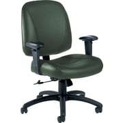 Global® Italia Custom Leather Office Chair, Alpine