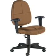 Global® Custom Leather Task Chair with Arms, Chamois