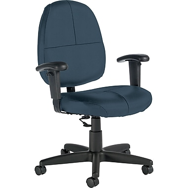 Global Custom Leather Task Chair with Arms, Surf