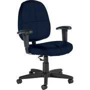 Global® Custom Leather Task Chair with Arms, Delta