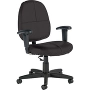 Global® Custom Leather Task Chair with Arms, Graphite
