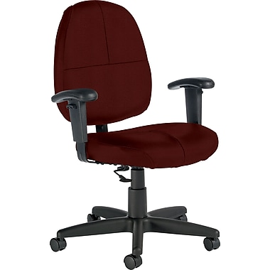 Global Custom Leather Task Chair with Arms, Chaps