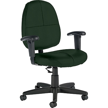 Global Custom Leather Task Chair with Arms, Alpine