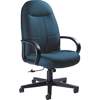 Global Custom Manager's Chair, Navy Blue, Premium Grade