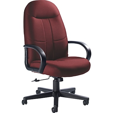 Global Custom Managers Chair, Burgundy, Premium Grade