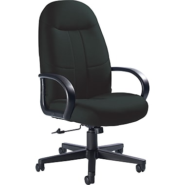Global Custom Manager's Chair, Ebony, Premium Grade