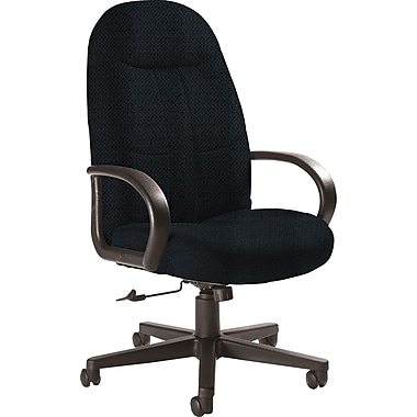 Global Custom Manager's Chair, Asphalt, Premium Grade