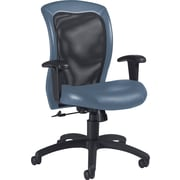 Global Airflow Custom Leather Mesh-Back Chair, Surf