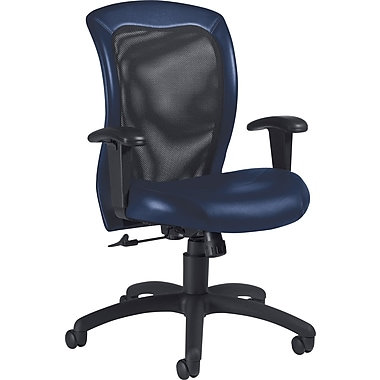 Global Airflow Custom Leather Mesh-Back Chair, Delta