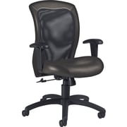 Global Airflow Custom Leather Mesh-Back Chair, Graphite