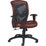 Global Airflow Custom Leather Mesh-Back Chair, Chaps