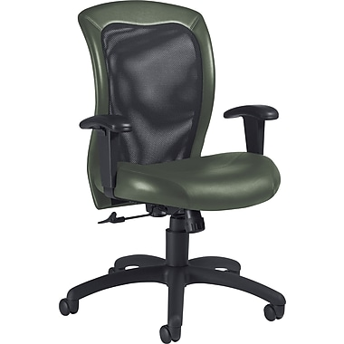 Global Airflow Custom Leather Mesh-Back Chair, Alpine