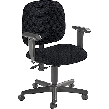Global Custom Adjustable Task Chair, Black Pattern, Premium Grade