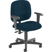 Global Custom Adjustable Task Chair, Navy Blue, Premium Grade