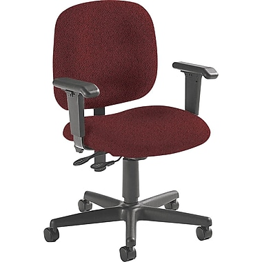 Global Custom Adjustable Task Chair, Burgundy, Premium Grade