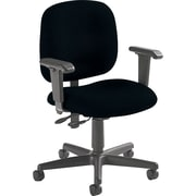 Global Custom Adjustable Task Chair, Ebony, Premium Grade