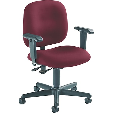 Global Custom Adjustable Task Chair, Claret, Ultra-Premium Grade