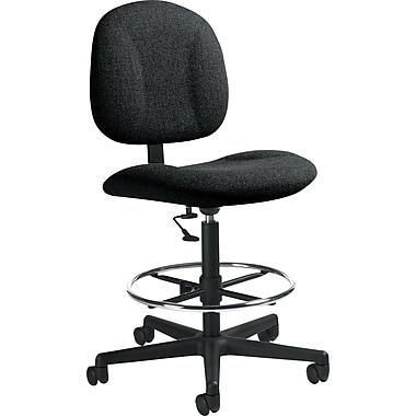 Global Custom Deluxe Drafting Chair, Black, Premium Grade