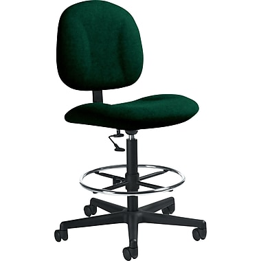 Global Custom Deluxe Drafting Chair, Hunter Green, Premium Grade