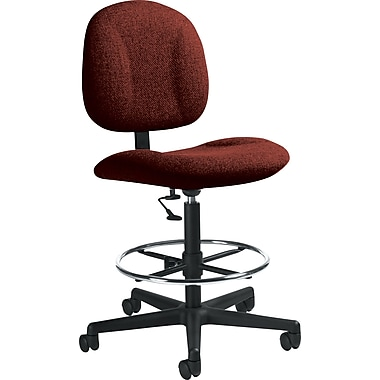 Global Custom Deluxe Drafting Chair, Burgundy Ultra-Premium Grade