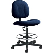 Global Custom Deluxe Drafting Chair, Ebony, Premium Grade