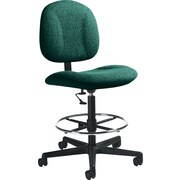 Global Custom Deluxe Drafting Chair, Teal, Premium Grade