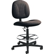 Global Custom Deluxe Drafting Chair, Charcoal, Premium Grade