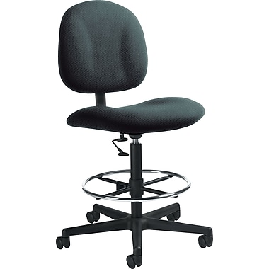 Global Custom Deluxe Drafting Chair, Asphalt, Premium Grade