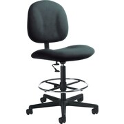 Global Custom Deluxe Drafting Chair, Asphalt, Premium Grade