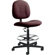 Global Custom Deluxe Drafting Chair, Garnet, Premium Grade