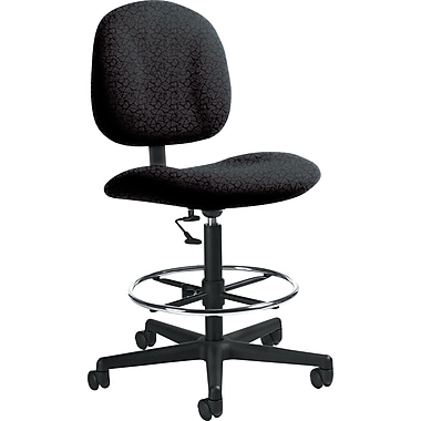 Global Custom Deluxe Drafting Chair, Carbon, Premium Grade