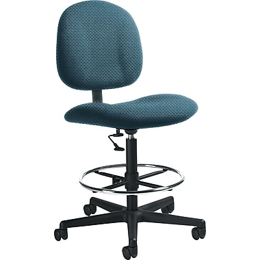 Global Custom Deluxe Drafting Chair, Blue Berry, Ultra-Premium Grade